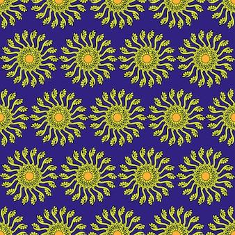 Modèle sans couture de vecteur floral avec la camomille élégante fleur