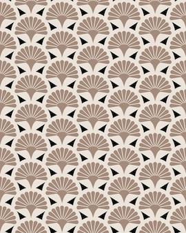 Modèle sans couture de vecteur floral de ventilateur de poche japonais. conception de texture de jardin de fleurs du japon.