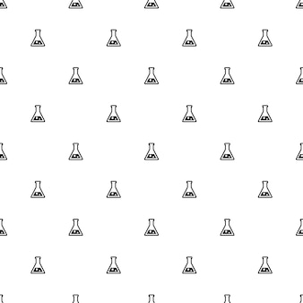 Modèle sans couture de vecteur, laboratoire, modifiable peut être utilisé pour les arrière-plans de pages web, les remplissages de motifs