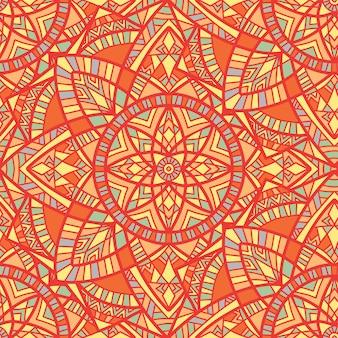 Modèle sans couture de vecteur mandala. ornement tribal.