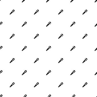 Modèle sans couture de vecteur, microphone, modifiable peut être utilisé pour les arrière-plans de pages web, les remplissages de motifs