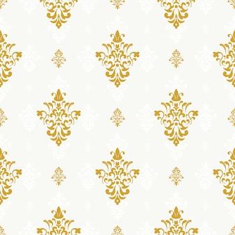 Modèle sans couture de vecteur avec ornement doré. répétition de fond, illustration ornée sans fin