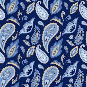 Modèle sans couture de vecteur ornement paisley indien abstrait