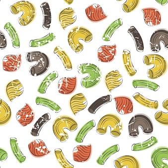 Modèle sans couture de vecteur avec des pâtes
