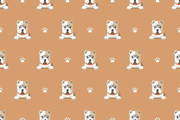 Modèle sans couture de vecteur personnage de dessin animé chien