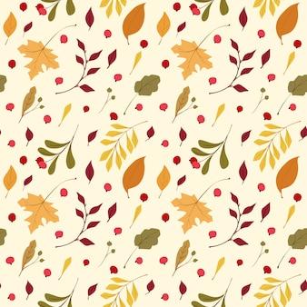 Modèle sans couture de vecteur plat humeur automne.