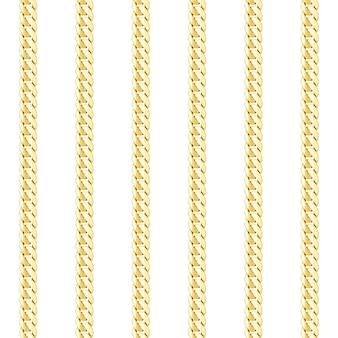 Modèle sans couture de vecteur à rayures verticales chaîne en or