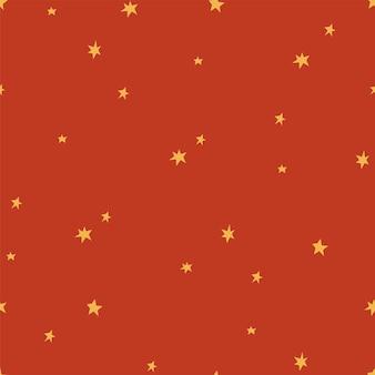 Modèle sans couture de vecteur de salutations de noël. éléments de conception de vacances d'hiver. attributs de noël traditionnels de l'étoile d'or.