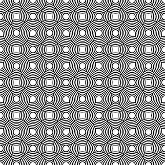 Modèle sans couture de vecteur symbole géométrique impossible pour papier peint, couverture, carte