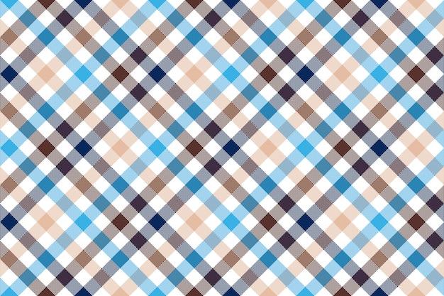 Modèle sans couture de vérification diagonale beige bleu