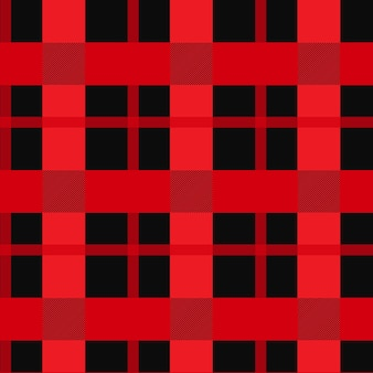Modèle sans couture vichy rouge et noir