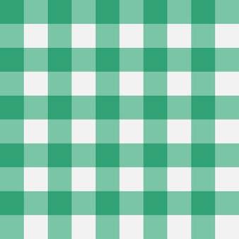 Modèle sans couture vichy vert bandes perpendiculaires texture pour vêtements de nappes à carreaux