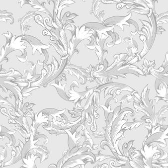 Modèle sans couture vintage baroque avec des remous