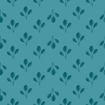 Modèle sans couture vintage avec des branches de doodle décoratives petit ornement.