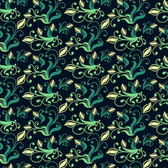 Modèle sans couture vintage avec éléments floraux. texture pour fonds d'écran, arrière-plans et remplissage de page. illustration vectorielle.