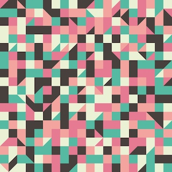 Modèle sans couture vintage avec des rectangles et des triangles.