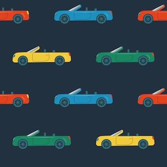 Modèle sans couture avec des voitures cabriolet