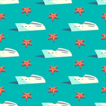 Modèle sans couture de voyage yacht