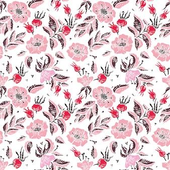Modèle sans couture wildrose