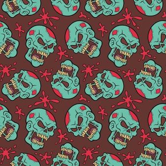 Modèle sans couture avec zombie