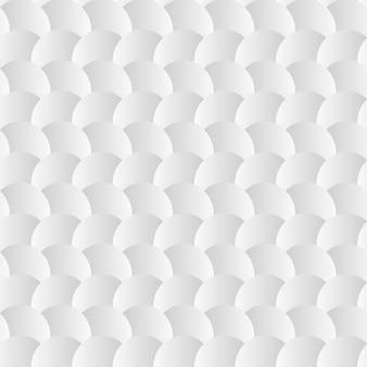Modèle sans soudure de fond blanc avec des cercles de papier