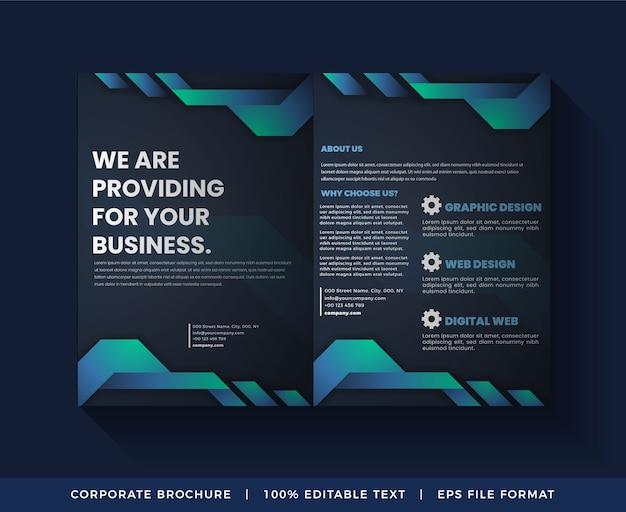 Modèle de services de brochure d'entreprise abstraite de 02 pages