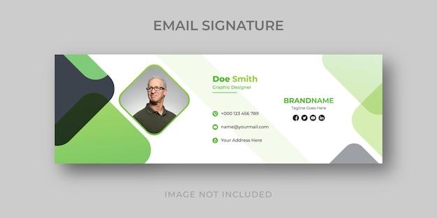 Modèle de signature de courrier électronique créatif professionnel