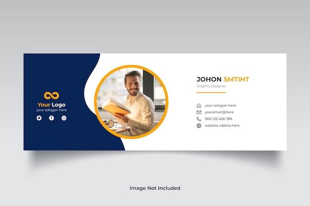 Modèle de signature de courrier électronique d'entreprise