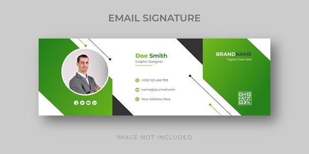 Modèle de signature de courrier électronique professionnel