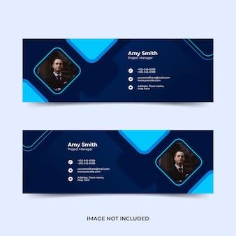 Modèle de signature d'e-mail ou pied de page d'e-mail et conception de couverture de médias sociaux personnelle