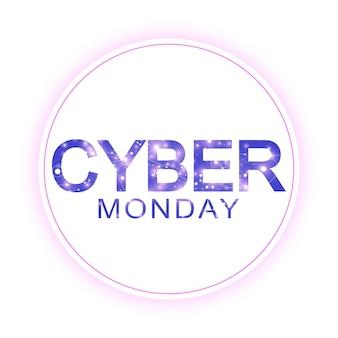 Modèle de signe de vente cyber monday. conception de bannières promotionnelles. étiquette cyber monday sale.