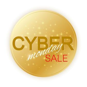 Modèle de signe de vente cyber monday.