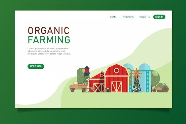 Modèle de site web d'agriculture biologique