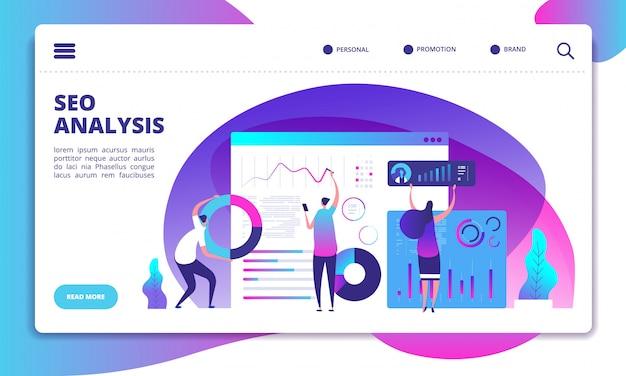 Modèle de site web d'analyse seo