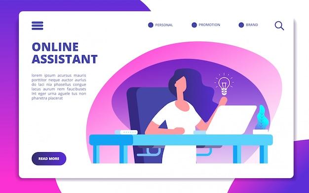 Modèle de site web d'assistant en ligne