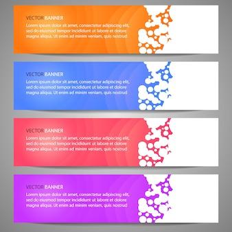 Modèle de site web de bannière de conception abstraite de vecteur éléments de conception web conception d'en-tête géomet abstrait