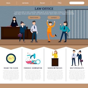 Modèle de site web du cabinet juridique