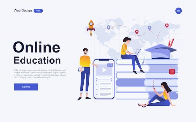 Modèle de site web d'éducation, de formation et de cours en ligne.