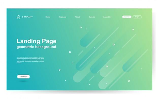 Modèle de site web avec fond de forme géométrique