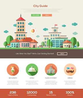 Modèle de site web de guide de la ville