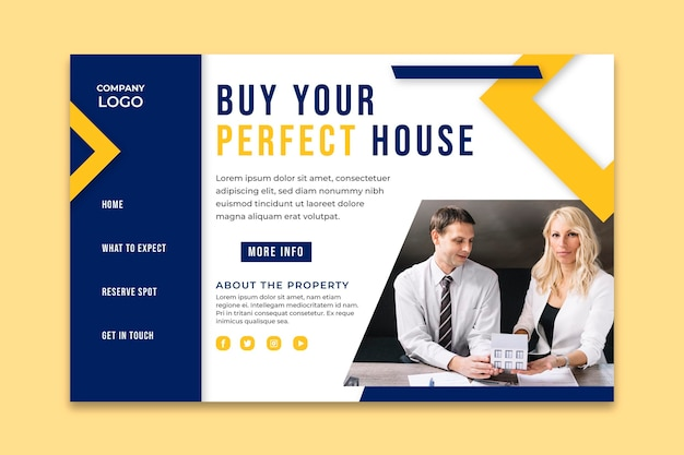 Modèle de site web immobilier