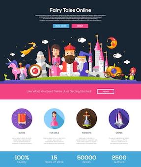 Modèle de site web en ligne de contes de fées