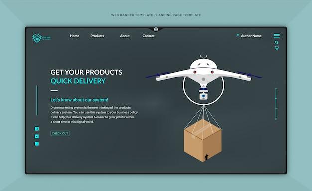 Modèle de site web marketing et conception de page de destination