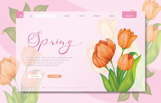 Modèle de site web de marque design moderne