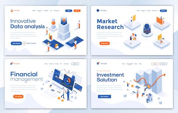 Modèle de site web moderne - ensemble d'affaires