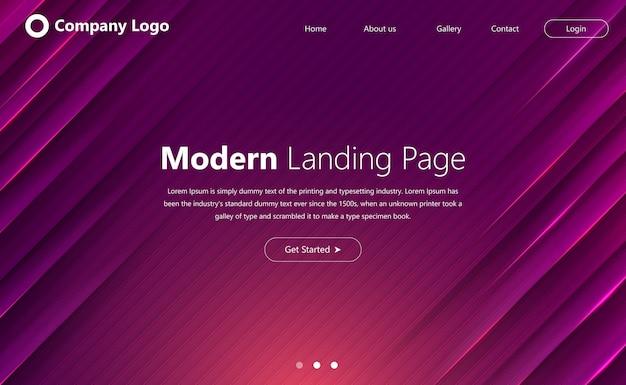 Modèle de site web moderne pour la page de destination