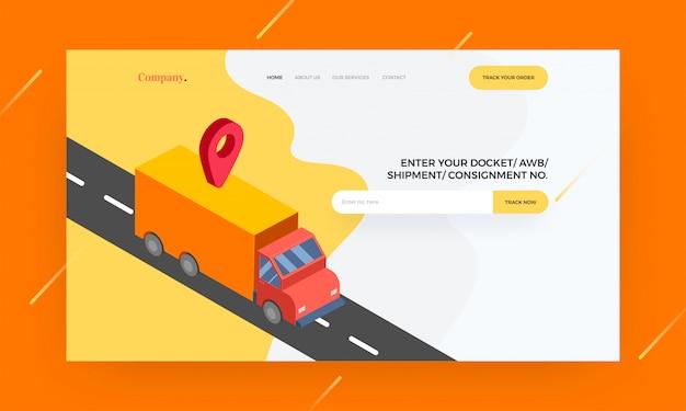 Modèle de site web réactif ou conception de bannière de héros