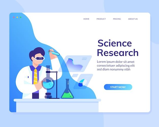 Modèle de site web de science scientifique d'analyse de recherche