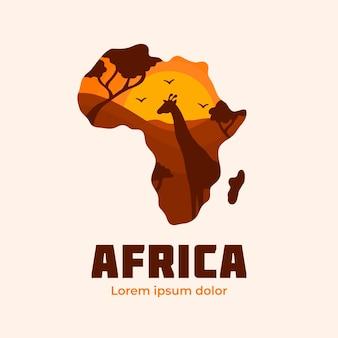 Modèle de société logo carte afrique