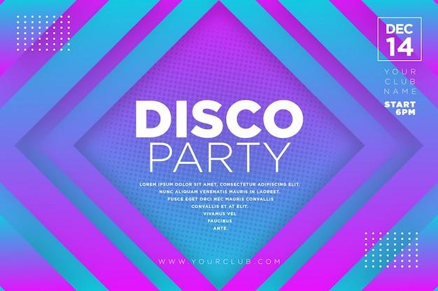 Modèle de soirée disco